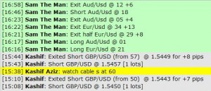 Jan 9, 2012 Live online forex scalping training trading chat room performance results