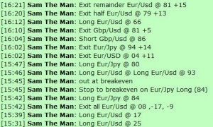 Jan 31, 2012 Live online forex scalping training trading chat room performance results