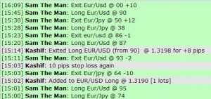 March 21, 2012 Live online forex scalping training trading chat room performance results
